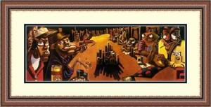 """Justin Bua Framed Art Print:""""  """"Poker Game"""