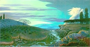 """Bruce Ricker Handsigned and Numbered Limited Edition Serigraph:""""River of Mystery"""""""