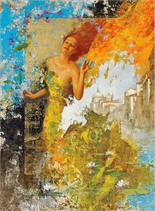 "FranÇois Fressinier Signed And Numbered Limited Edition Hand-pulled Serigraph:""La Serenissima"""