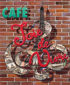 "Liudmila Kondakova Hand-signed and Numbered Limited Edition Canvas:""Café Joie de Vivre"""