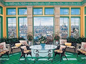 "Liudmila Kondakova Handsigned and Numbered Limited Edition Serigraph on Gesso Board:""Room with a View"""