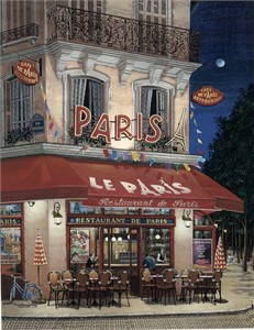 "Liudmila Kondakova  Limited Edition Serigraph on Gesso Board:""Le Paris"""