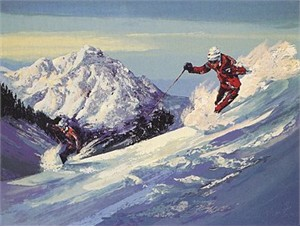 "Mark King Handsigned and Numbered Limited Edition Hand-Pulled Serigraph on Paper: ""High Powder"""