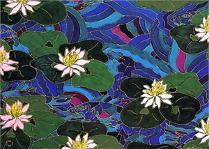 "Echo Handsigned and Numbered Limited Edition :Serigraph on Paper:""Waterlilies"""