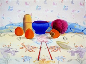 "Osborne Handsigned and Numbered Limited Edition :Serigraph on Paper:""Japanese Still Life"""