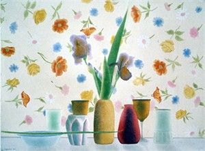 "Osborne Handsigned and Numbered Limited Edition :Serigraph on Paper:""Still Life with Floating Flowers"""