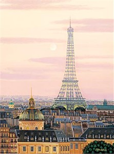 "Kondakova Handsigned and Numbered Limited Edition :Serigraph on Gesso Board:""La Tour Eiffel (Toujours Paris! Suite)"""