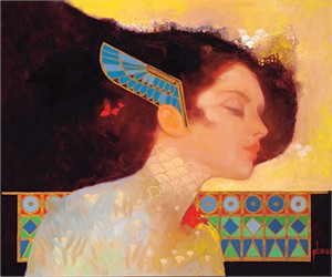 "Felix Mas Handsigned and Numbered Limited Edition Serigraph on Canvas:""Jewel Egypt iii"""