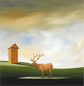 "Robert Deyber Artist Signed Limited Edition Hand-crafted Stone Lithograph:""Deer John"""