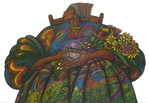 """Charles Bibbs Hand Signed and Numbered Limited Edition: """"Mother Love"""""""