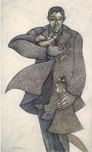 "Charles Bibbs Hand Signed and Numbered Limited Edition: ""The Caregivers II"""