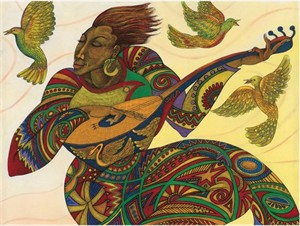 "Charles Bibbs Hand Signed and Numbered Limited Edition:""The Music Maker 3"""
