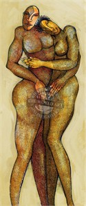 """Charles Bibbs Hand Signed and Numbered Limited Edition: """"Bronze Lovers"""""""