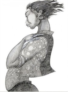 """Charles Bibbs Hand Signed and Numbered Limited Edition:""""Mystic Girl"""""""