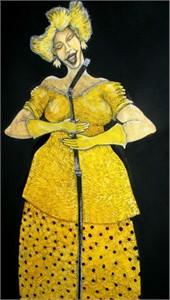 "Charles Bibbs Original Art:""The Jazz Singer"""