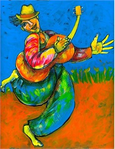 "Charles Bibbs Hand Signed and Numbered Limited Edition:""Joy Luck Girl"""