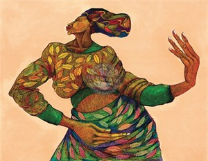 "Charles Bibbs Hand Signed and Numbered Limited Edition: ""Dancing Hands"""