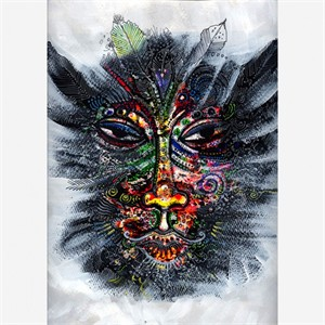 "Charles Bibbs Hand Signed and Numbered Limited Edition: ""Mask #1 Collaboration"""