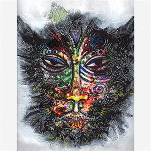 "Charles Bibbs Hand Signed and Numbered Limited Edition: ""Mask #2 Collaboration"""