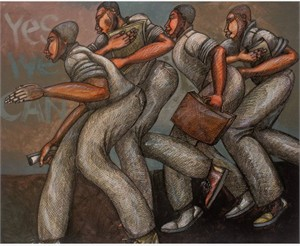 "Charles Bibbs Hand Signed and Numbered Limited Edition: ""Men Doing It Well"""