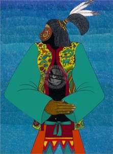 "Charles Bibbs Hand Signed and Numbered Limited Edition: ""Medicine Man"""