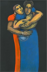 "Charles Bibbs Hand Signed and Numbered Limited Edition: ""Me and My Babies"""
