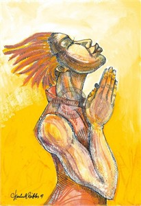 "Charles Bibbs Hand Signed and Numbered Limited Edition: ""The Prayer"""