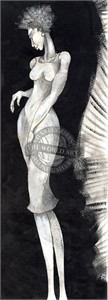 """Charles Bibbs Hand Signed and Numbered Limited Edition: """"Long Leg Lady"""""""