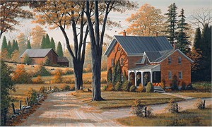 """Bill Saunders Handsigned and Numbered Limited Edition Giclee on Canvas :""""Falling Leaves"""""""