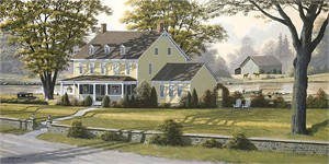 """Bill Saunders Handsigned and Numbered Limited Edition Giclee on Canvas :""""Country Classic"""""""