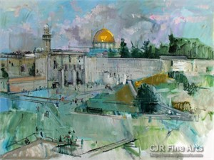 """Alex Zwarenstein Hand Signed Limited Edition Canvas Giclee:""""Jerusalem"""""""