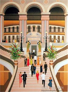 "Fanch Ledan Hand Signed and Numbered Limited Edition Paper Lithograph:""L'Opera de Paris"""