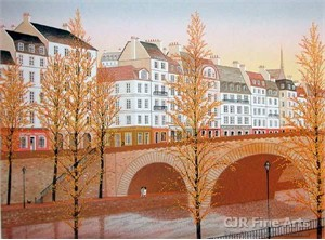 """Fanch Ledan Hand Signed and Numbered Limited Edition Paper Lithograph:""""Pont Marie"""""""