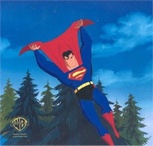 """Original Hand Paint Production Art Animation Cel: """"Superman-In Brightest Day"""""""