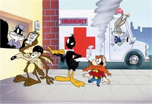 "Juan Ortiz Limited Edition Animation Art:""Looney Tunes Emergency"""