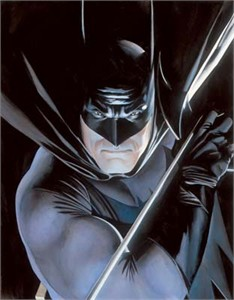 "Alex Ross Limited Edition Fine Art Giclee Print on Paper:""Mythology: Batman"""