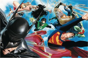 "Alex Ross Limited Edition Fine Art Oversize Giclee on Canvas:""Liberty and Justice"""