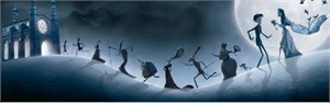 "Tim Burton's Corpse Bride  Limited Edition Fine Art Giclee Print on Paper :""A Terrible Day for A Wedding"""