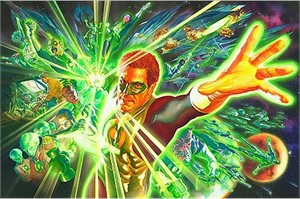"Alex Ross Hand Signed and Numbered Limited Edition Giclee on Paper and Canvas:""The Green Lantern - The Power of the Ring """