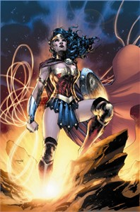 "Jim Lee Hand Signed and Numbered Limited Edition Gicleé on Fine Art Paper and Canvas:""Wonder Woman - Goddess of Truth"""