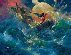 "James Coleman Handsigned and Numbered Limited Edition Giclee on Canvas: ""Sorcerer Symphony"""
