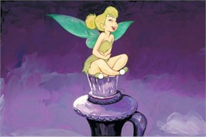 "Jim Salvati  Handsigned and Numbered Limited Edition Giclee on Canvas: ""Tickled Tink"""