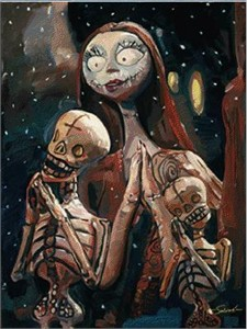 "Jim Salvati Handsigned and Numbered Limited Edition Giclee on Canvas:""Nightmare Before Christmas - The Pumpkin Dance"""