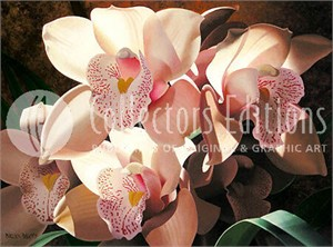 "Brian Davis Limited Edition Giclee on Canvas :""Cymbidium Spray """