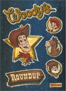 "Trevor Carlton Signed and Numbered Hand-Textured Giclée on Canvas: ""Woody's Roundup"""