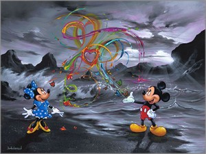 """Jim Warren Signed and Numbered Hand-Embellished Giclée on Canvas:""""Colors of Love"""""""