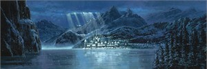 """Rodel Gonzalez Signed and Numbered Giclée on Canvas: """"Arendelle - Frozen"""""""