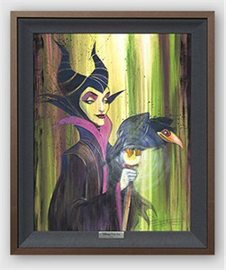 "Disney Framed Limited Edition Canvas Giclee:""Maleficent the Wicked"" by Stephen Fishwick"