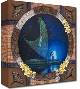 "Noah Hand Hand Signed and Numbered Canvas Giclee:""Mickey Mouse - Fantasia - The Sorcerer's Dream Panel 2"""