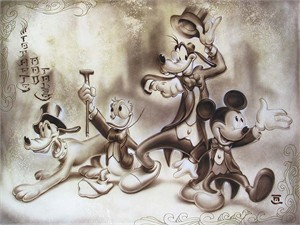 "Noah Hand Hand Signed and Numbered Canvas Giclee:""Top Hat and Tails"""